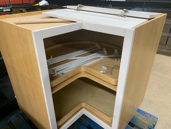 Misc cabinets, including corner lazy Susan