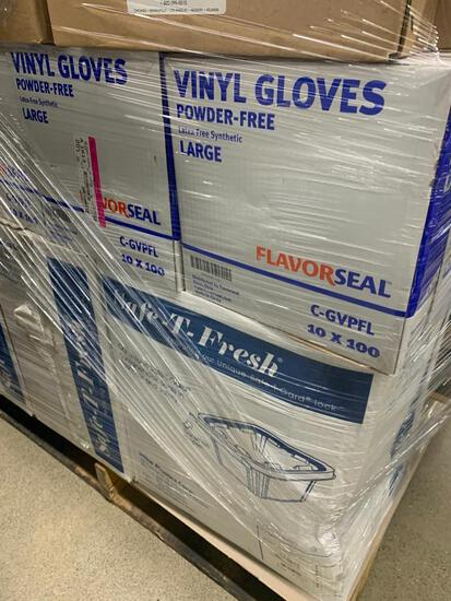 pallet of Safe-T-Fresh containers.