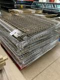 Pallet of wire shelving for Keyhole racking