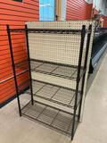 Metro shelving with pegboard back