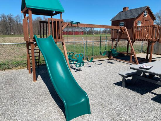 Wood frame Swing set This swing does not include play house
