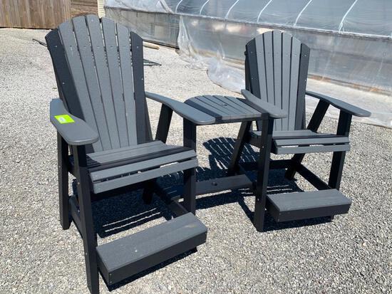 3 piece Poly chair set (Balcony set)