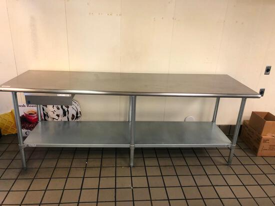 8' Stainless Table