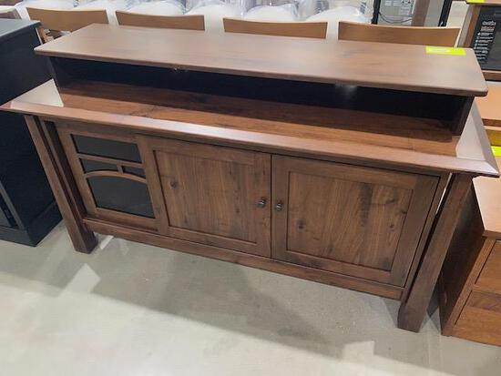 "Walnut server 63"" x 20"" x 36"" Stain: Cloverleaf"