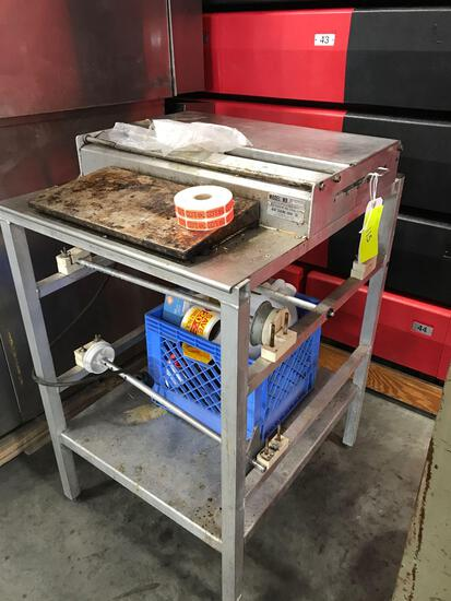 Heat sealer with crate of assorted misc