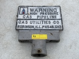 Gas Pipeline post sign