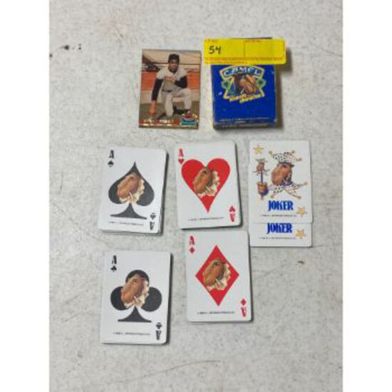 Camel Playing Cards & Bobby Bonds card