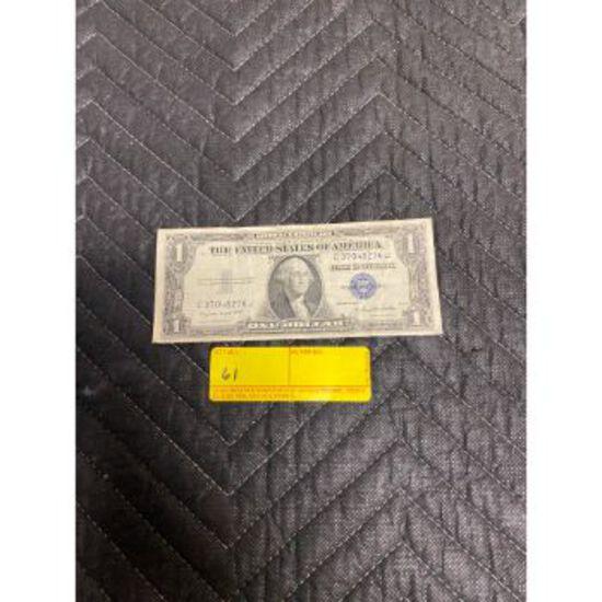 1935G Silver Certificate $1 Bill