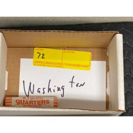 Uncirculated $10 Roll of Washington State Quarters