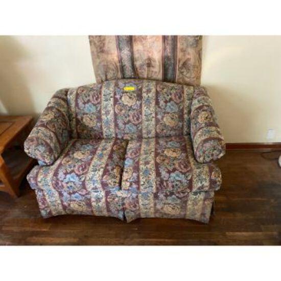 Floral Pattern Love Seat