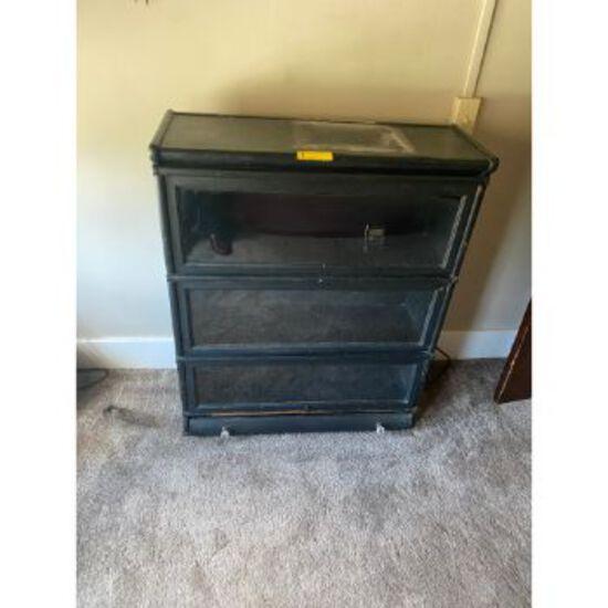 Antique 3 Door Display Cabinet