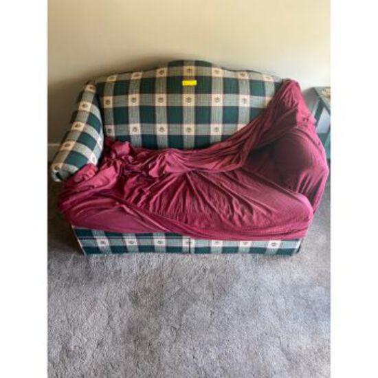 Green Checkered Love Seat