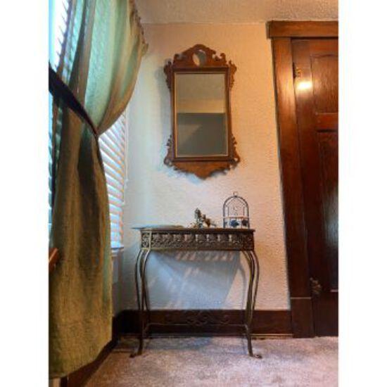 Hallway Table, Mirror, & Decorations