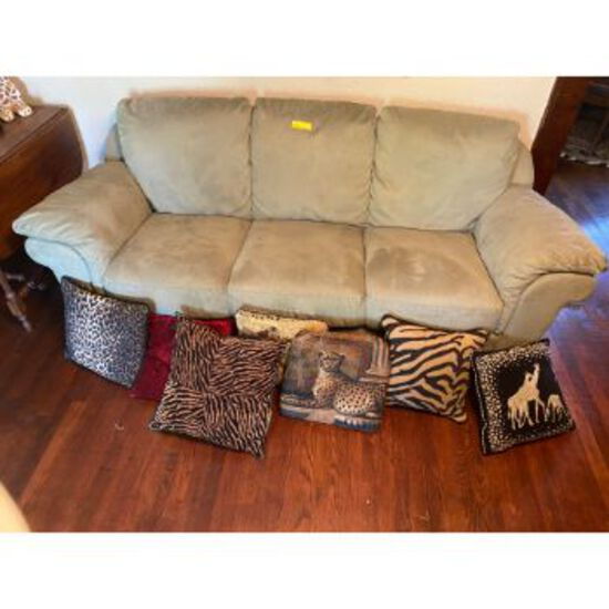 Light Green 3 Cushion Couch