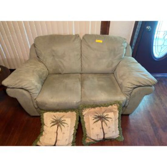 Light Green 2 Cushion Couch