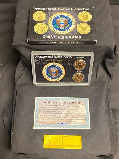 Presidential Dollar Collection 2008 Gold Edition