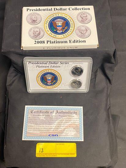 Presidential Dollar Collection 2008 Platinum Edition
