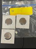 2 Cent Coins 1864, 1865, & 1867