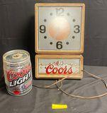 Coors Beer Light Up Clock