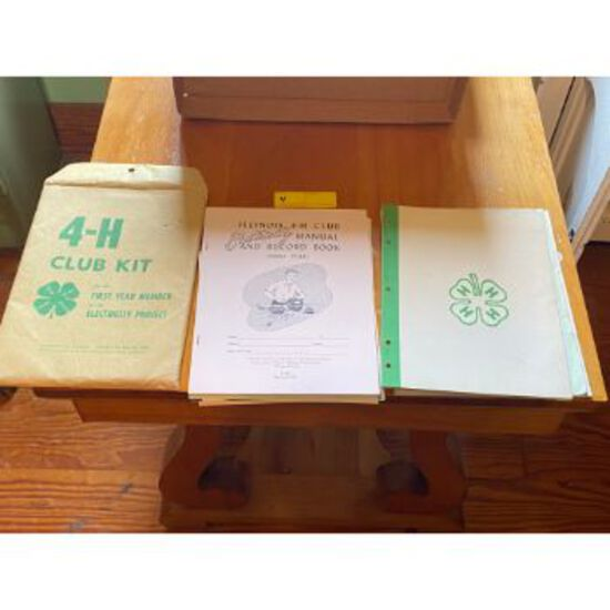 Vintage Illinois 4-H Club Manual and Record Book