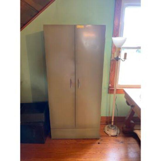 Green Metal Cabinet