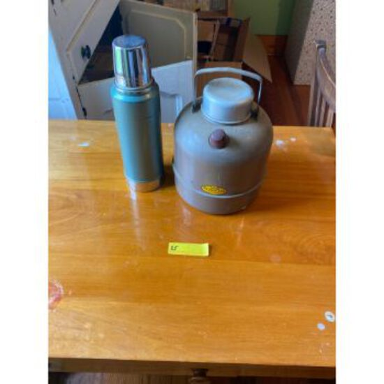 """""""Little Brown Jug"""" & Thermos"""