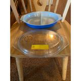 Divided Pyrex Dish With Lid