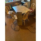 Kitchen Table 1 Leaf 6 Chairs