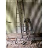 Wood Step Ladder & Extension Ladder