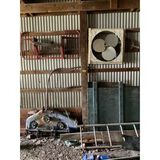Box Fan, Guard & Extension Ladder