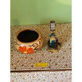 Chalk Art Desk Lamp & Flower Pot