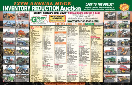 ANNUAL INVENTORY REDUCTION AUCTION