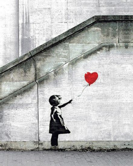 Red Balloons by Banksy offset lithograph