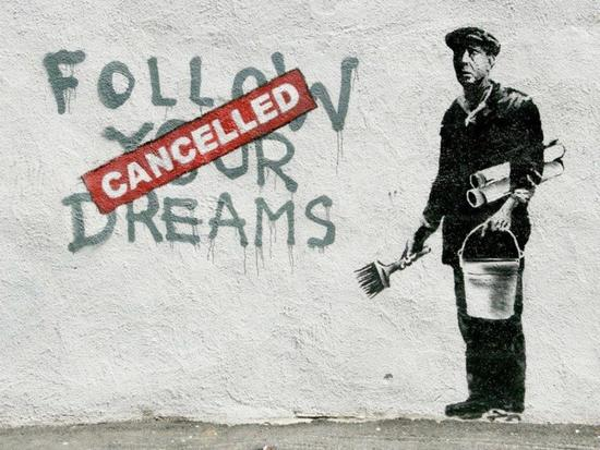 Banksy Follow Your Dreams offset lithograph