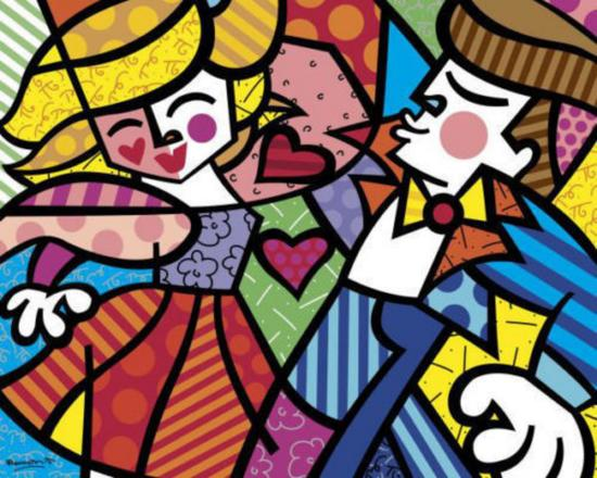 Swing by Romero Britto offset lithograph