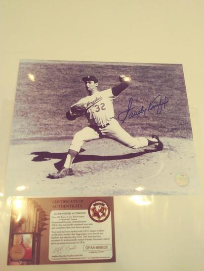 Sandy Koufax Signed photo W COA