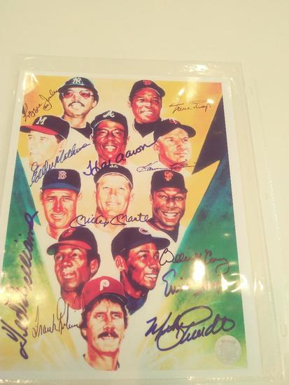 8 Signatures of all time GReats Mlb W COA