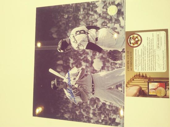Ted Williams Yogi Berra Double Signed Photo