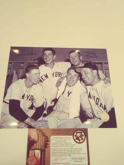 Mickey Nantle and Billy Martin Double Signed PHoto W COA