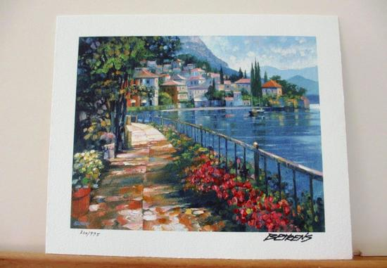 """Howard Behrens """"Sunlit Stroll"""" The Sea View HS# Giclee"""