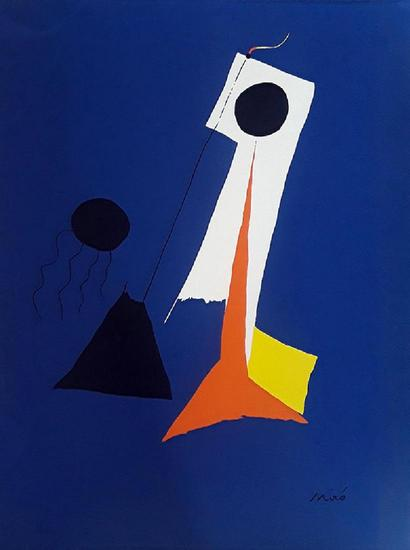 Miro Lithograph Signed in the plate