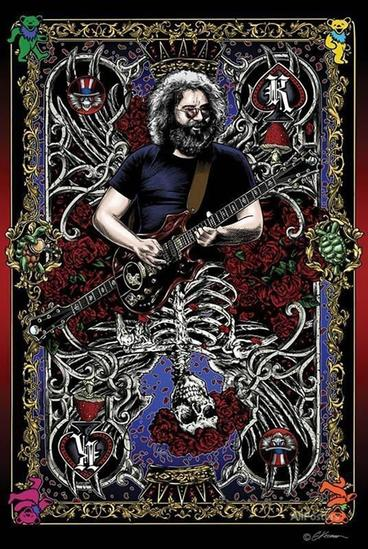 GRATEFUL DEAD ~ PLAY THE JERRY CARD OFFSET Lithograph