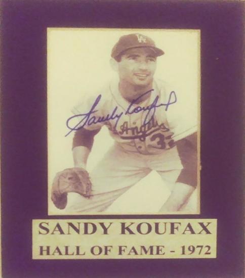 Sandy Koufax Signed Matted Photo