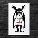 BANKSY, Keep It Real, offset lithograph