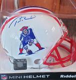 Tom Brady Autographed Patriots Mini-Helmet (Mounted