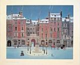 MICHEL DELACROIX 'PLACE DAUPHINE' LITHOGRAPH SIGNED IN
