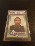 LEBRON JAMES 10 OF 10 GRADED ROOKIE CARD