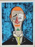 Bernard Buffet, TΩte de clown, 1955 Lithograph