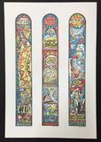 Irving Amen Twelve Tribes Stained Glass Lithog Agudas