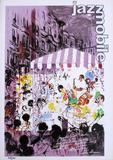 Leroy Neiman, Summer Musical Concert Harlem lithograph